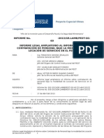 Informe - Inf. Complementario Contratacion Locacion de Servicios Oci