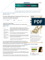 Common Management Admission Test Score Not Must for B-School Admission - The Times of India