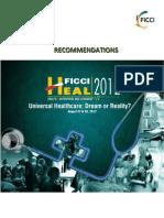 FICCI HEAL 2012 Recommendations