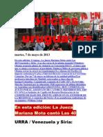 Noticias Uruguayas Martes 7 de Mayo Del 2013
