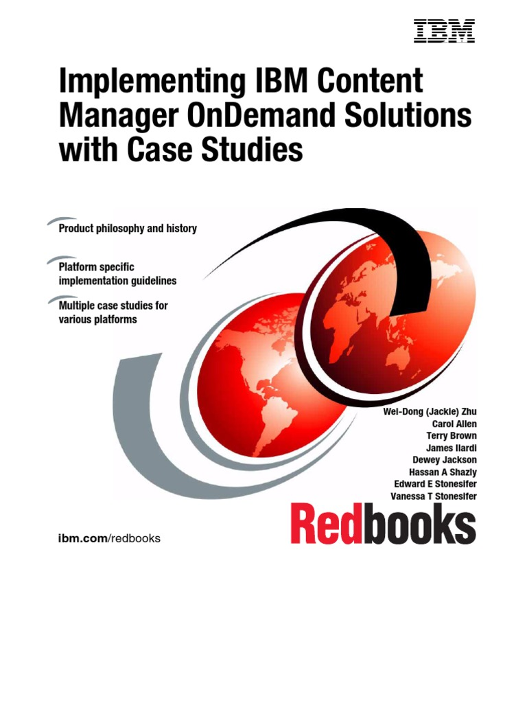 Implementing Ibm Content Manager Ondemand Solutions Ibm System I