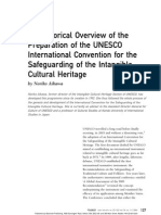 An Historical Overview of the Preparation of the UNESCO International Convention for the Safeguarding of the Intangible Cultural Heritage