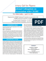 Call for Papers UHV Colloquium 2013 New Delhi PDF