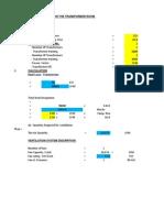Vevtilation Calculation for the Transformer Room