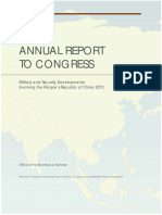 Report by US Department of Defense on military developments involving China 2013
