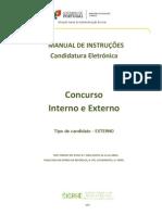 Manual Candidatura - Externo