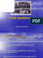 Crew Agreements