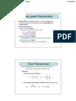 Chain Growth Polymersization