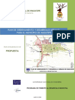 Documento Propuesta Urbana, Masatepe Definitivo
