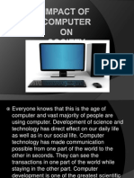 Impact of Computer on society