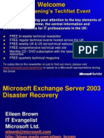 Exchange 2003 Disaster Recovery