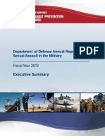 Pentagon Executive Summary Sexual Assault in Military