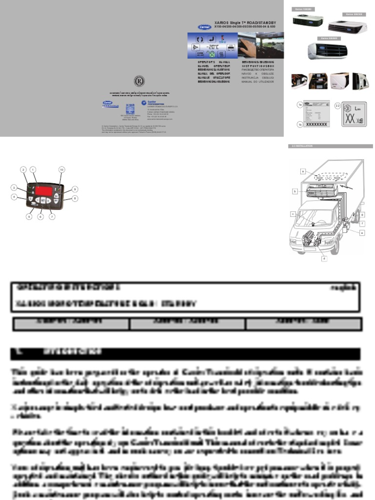 user manual carrier truck refrigeration   Exhaust Gas