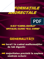 Malformatii Ano - Rectale