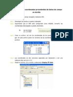 Como Introducir Coordenadas Procedentes de Datos de Campo en ArcGis