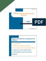 Transparencias Tema 1 Introduccion a La Ingenieria Del Software P1