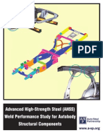 Advanced High-Strength Steel (AHSS) Weld Performance Study for Autobody Structural Components