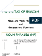 Noun & Verb Phrases & Grammatical Functions