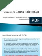 Analisis Causa Raiz (Rca)
