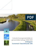 Evaluatierapport BGB en GSB 2008-2009 Publicatie Website TW
