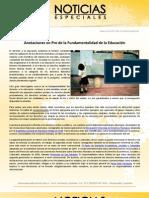 Anotaciones en Pro de la Fundamentalidad de la Educación