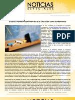 El caso Colombiano del Derecho a la Educación como fundamental
