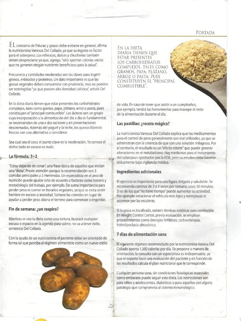Dieta por nutricionista para diabeticos