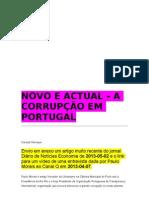 Novo e Actual- A Corrupcao Em Portugal