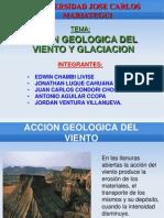 Accion Geologica Del Viento y Glaciacion