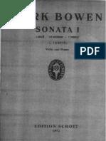 Bowen, York. Bowen Sonata No 1 for Viola and Piano