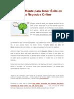 Capacita Tu Mente y Desarrolla Correctamente Los Negocios Online