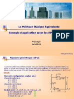 Méthode Statique Equivalente_RPA99 Ver 2003