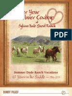 2013 Sylvan Dale Guest Ranch Dude Vacation Brochure