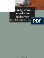El Magisterio Americano de Bolivar