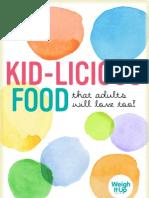 Kid-licious Food recipe ebook
