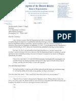 Elijah Cummings Letter to Sec. Charles Hagel