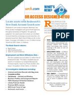 Realsearch.com Pro Investigator Flyer