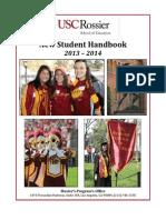 New Student Handbook 2013 5-7-13 Final