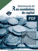 Determinacion Del ISR en Reembolsos de Capital
