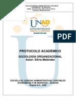 Protocolo Modulo Sociologia Organizacional