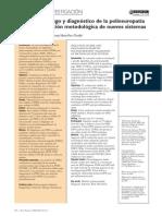 Selección de riesgo y diagnóstico de la polineuropatía
