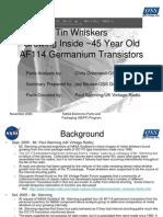 2005 Brusse Tin Whiskers AF114 Transistors