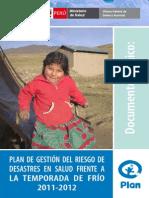 20111201 MINSA Plan Gestion Riesgo de Desastres Salud