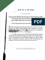 ACT 1 0F 1851