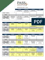 2013 Jan_final Class Schedule