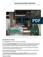 Torque of ThreePhase Induction Motor Explained
