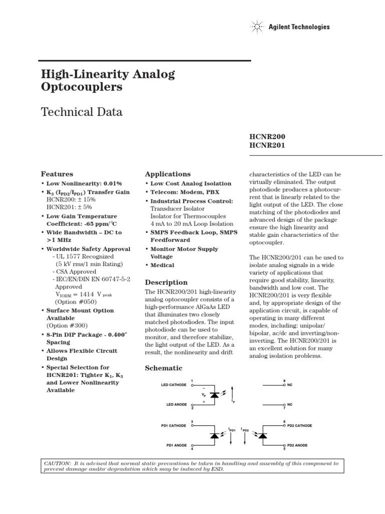HCNR201   Amplifier   Operational Amplifier