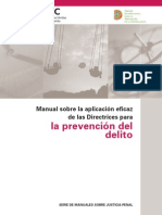 Handbook on the Crime Prevention Guidelines Spanish