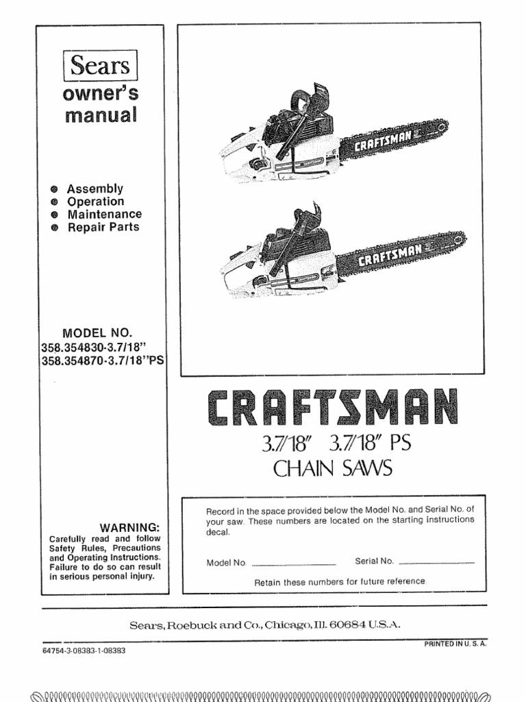 Craftsman Poulan 3700 | Mechanical Engineering | Manufactured Goods