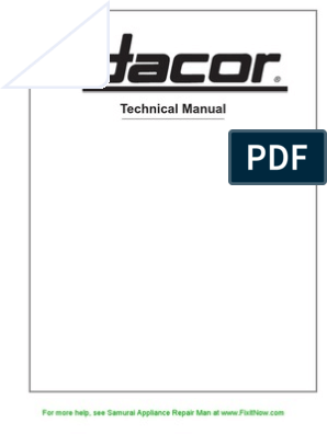 Dacor Technical Manual   Electric Current   Relay on